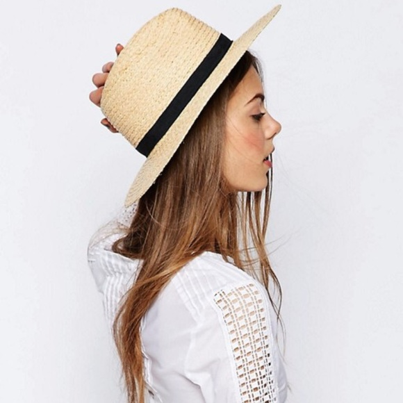 fc68a57ae6a31 ASOS Accessories - ASOS straw hat with black trim